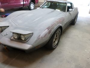 Vehicle Restoration: During Photo. Hamilton's Auto Body Shop in Bealeton, VA