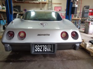 Complete Vehicle Restoration: Corvette back at Hamilton's Auto Body in Bealeton VA