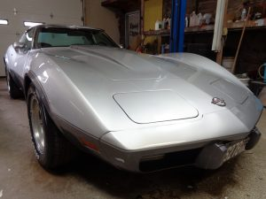 Vehicle Restoration Corvette at Hamilton's Auto Body Shop in Bealeton VA in Fauquier County