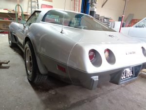 Complete Vehicle Restoration: Corvette at Hamilton's Auto Body Shop near Bealeton VA