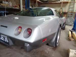 Vehicle Restoration: Corvette at Hamilton's Auto Body Shop in Bealeton VA