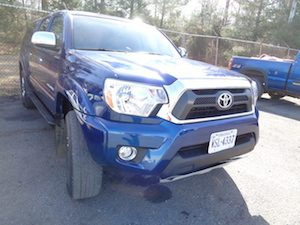 Blue Toyota After Hamiltons Auto Body Repair in Bealeton